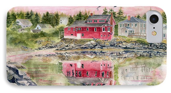 Red House Reflection Phone Case by Melly Terpening