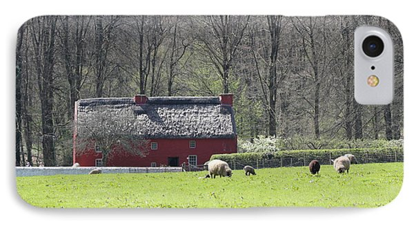 Red House Phone Case by Vicki Spindler