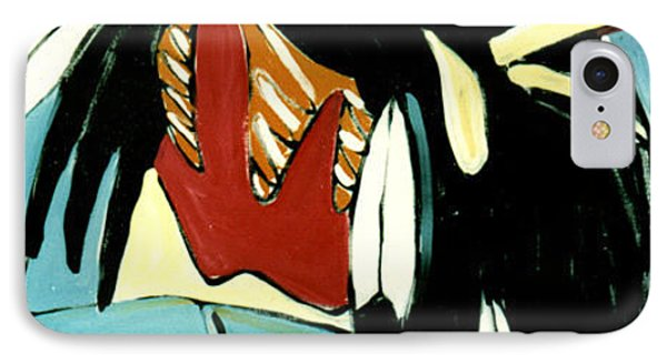 Red Indian IPhone Case by Lance Headlee