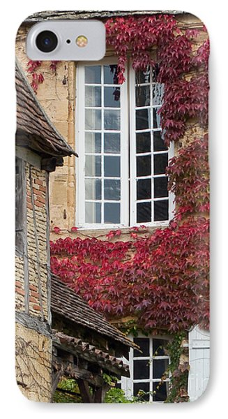 IPhone Case featuring the photograph Red Ivy Window by Paul Topp