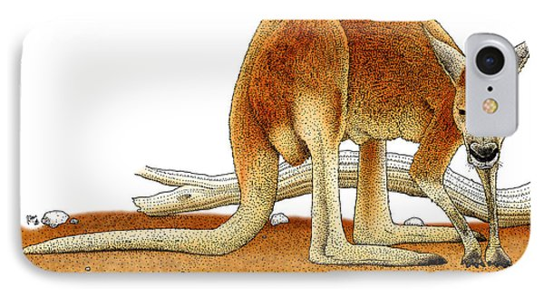 Red Kangaroo IPhone Case by Roger Hall