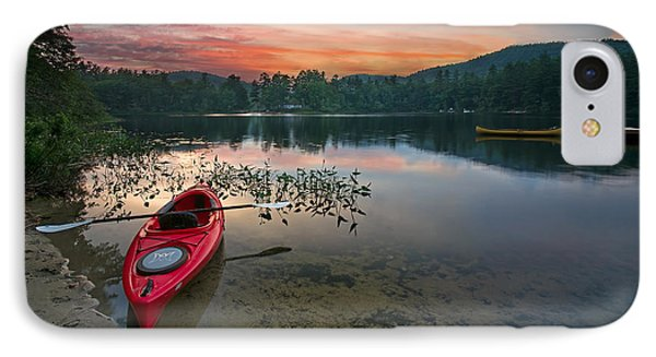 Red Kayak IPhone Case by Darylann Leonard Photography