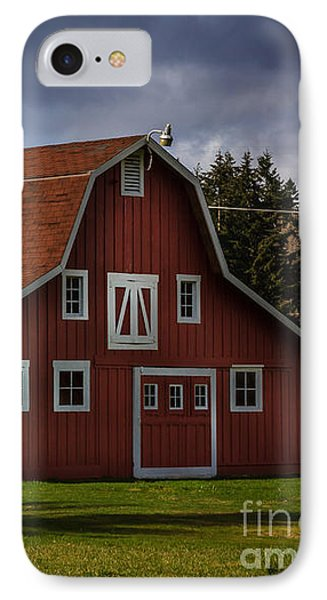 IPhone Case featuring the photograph Red Kirsop Barn by Jean OKeeffe Macro Abundance Art