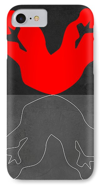 Red Kiss 2 IPhone Case by Naxart Studio