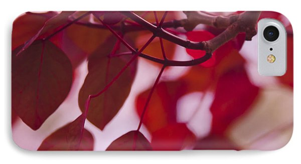 Red Leaves IPhone Case by Sharon Mau