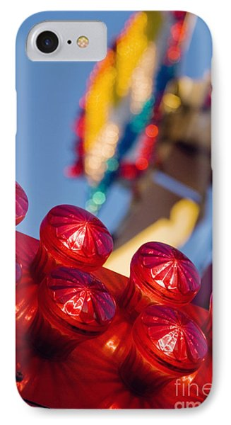 Red Lights At The County Fair IPhone Case by Cindy Garber Iverson