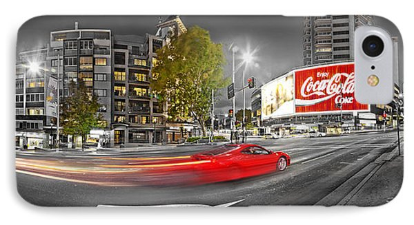 Red Lights Sydney Nights IPhone Case by Az Jackson