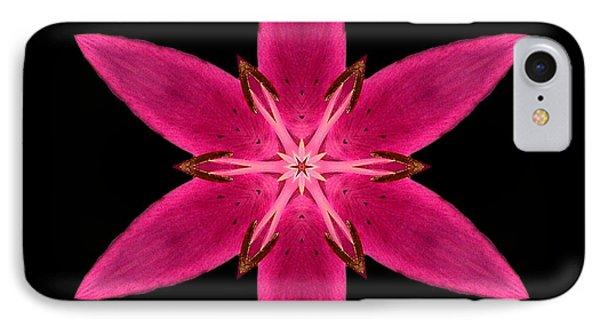 Red Lily I Flower Mandala IPhone Case