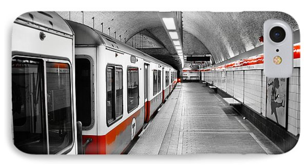 Red Line IPhone 7 Case by Charles Dobbs