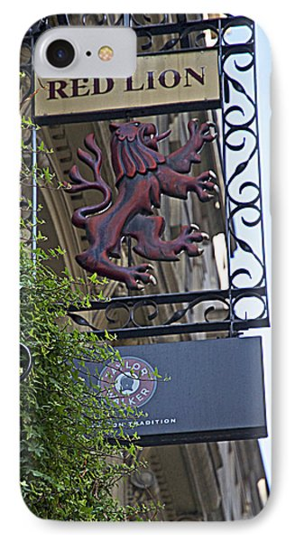 Red Lion Pub IPhone Case by Cheri Randolph