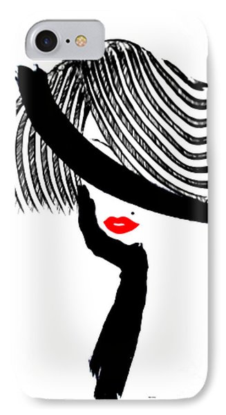 IPhone Case featuring the painting Red Lips by Rafael Salazar