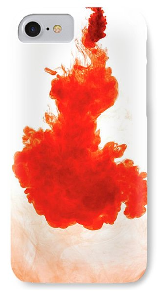 Red Liquid Against Plain Background IPhone Case by Science Photo Library
