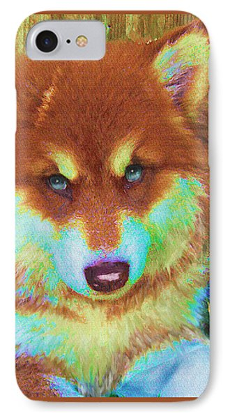 Red Malamute IPhone Case by Jane Schnetlage