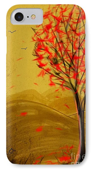 Red Maple  IPhone Case by Judy Via-Wolff