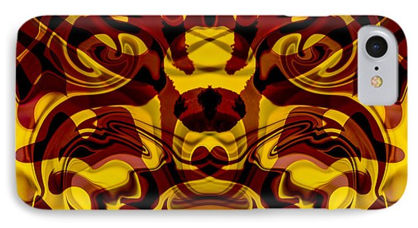 Red Mask IPhone Case by Omaste Witkowski