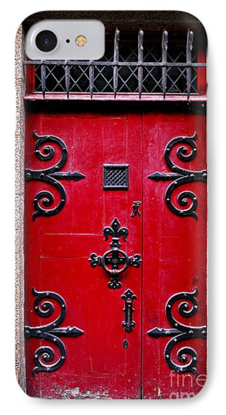 Red Medieval Door IPhone Case