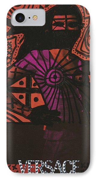 Red Medusa Pop Graffiti Model Phone Case by Edward X