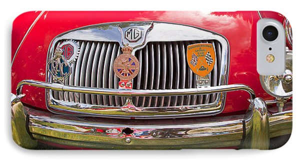 Red Mg Sports Car Canada IPhone Case by Mick Flynn