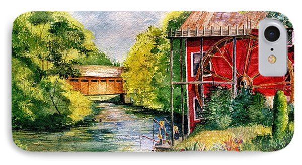 Red Mill At Waupaca Phone Case by Marilyn Smith