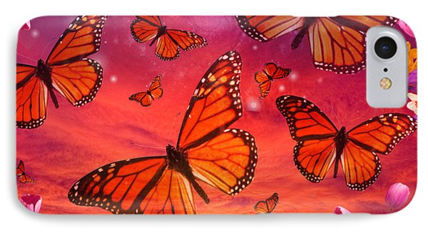 Red Monarch Sunrise Phone Case by Alixandra Mullins