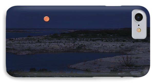 Red Moon Rising IPhone Case by Amber Kresge