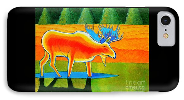 IPhone Case featuring the painting Red Moose by Joseph J Stevens