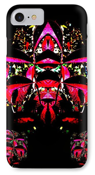 IPhone Case featuring the digital art Red Mosaic by Aliceann Carlton