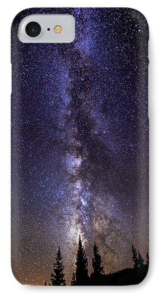 Red Mountain Milky Way IPhone Case