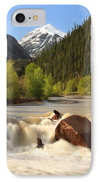 IPhone Case featuring the photograph Red Mountain Snowmelt by Scott Rackers
