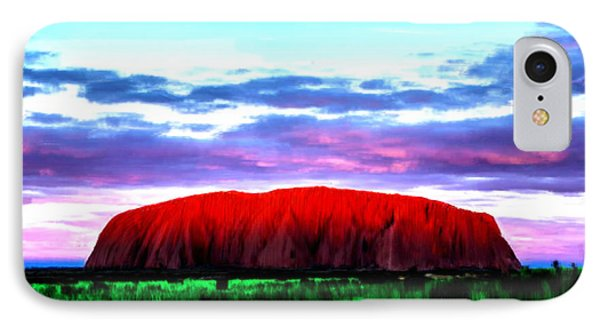 IPhone Case featuring the painting Red Mountain Sunset by Bruce Nutting