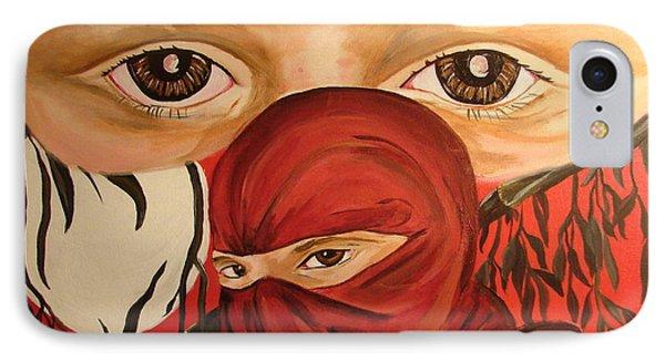 Red Ninja Phone Case by Lorinda Fore