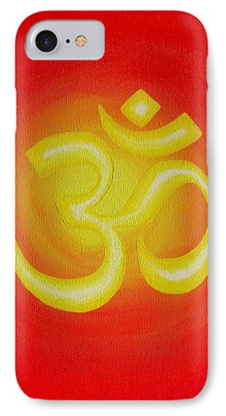 Red Om IPhone Case