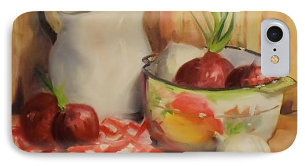 IPhone Case featuring the painting Red Onions by Marcia Dutton