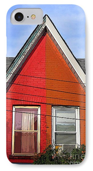 IPhone Case featuring the photograph Red-orange House by Nina Silver