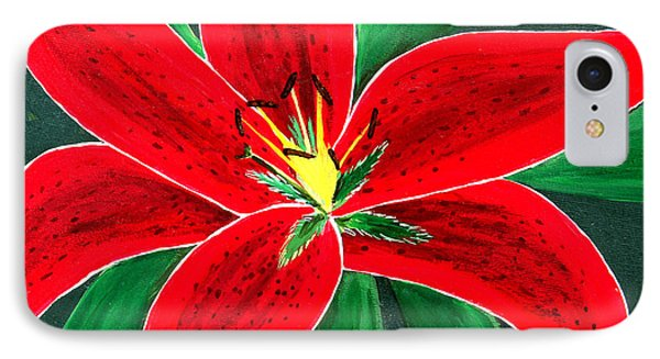 Red Oriental Daylily IPhone Case