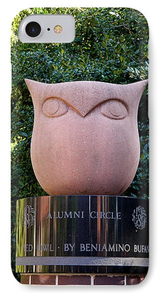 Red Owl At Temple IPhone Case by Richard Reeve