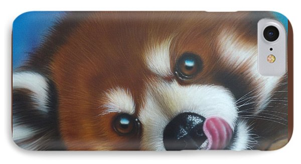 Red Panda IPhone Case by Darren Robinson