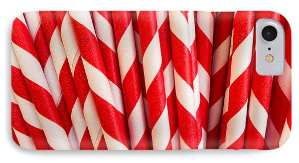 Red Paper Straws Phone Case by Edward Fielding