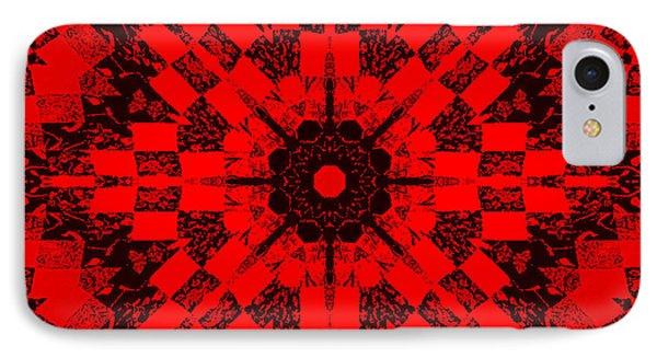 Red Patchwork Art Phone Case by Barbara Griffin
