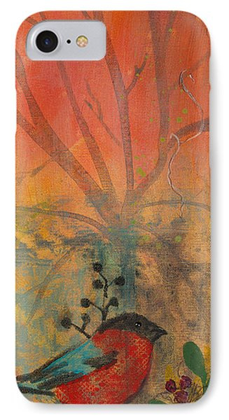 IPhone Case featuring the painting Red Peace Bird by Robin Maria Pedrero
