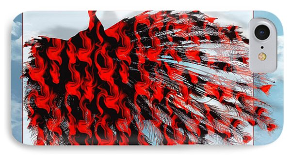 Red Peacock IPhone Case
