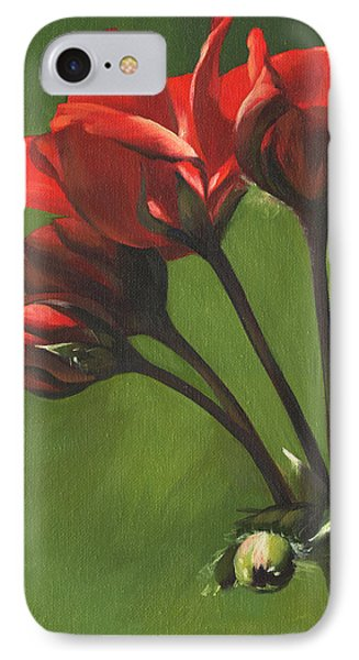 Red Pelargonium IPhone Case by Alecia Underhill