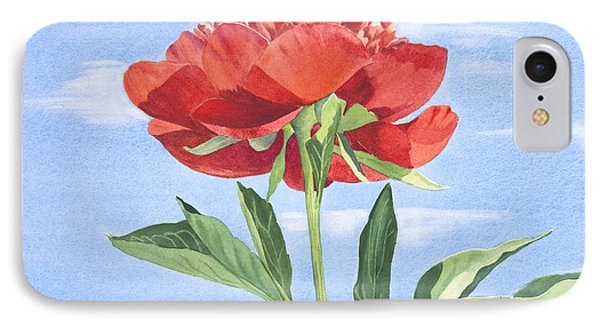 Red Peony IPhone Case