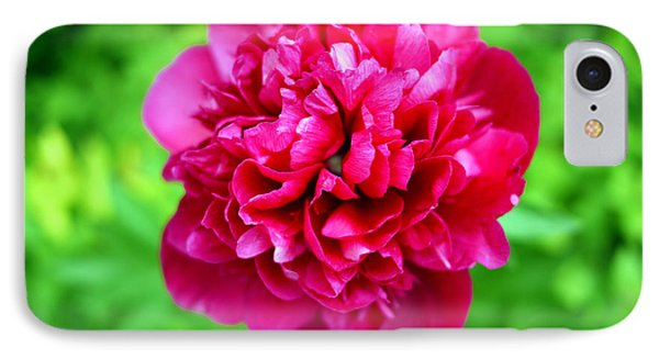 Red Peony Flower Phone Case by Edward Fielding
