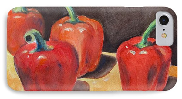 Red Peppers Phone Case by Melinda Saminski