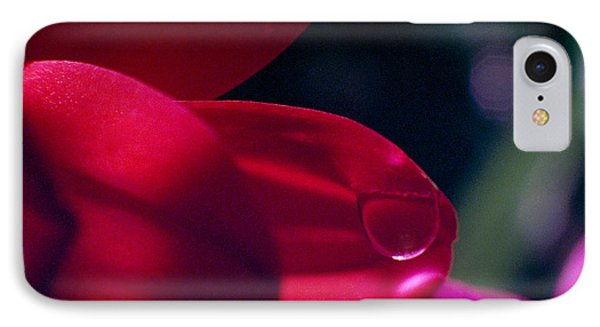 IPhone Case featuring the photograph Red Petal by Mark Greenberg