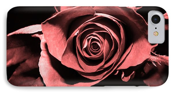 Red Pink Rose  IPhone Case