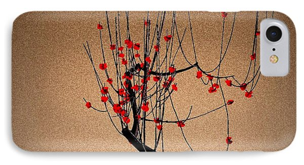 Red Plum Blossoms Phone Case by GuoJun Pan
