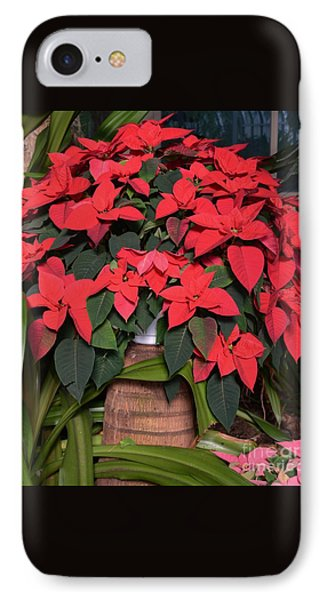 Red Poinsettia Phone Case by Kathleen Struckle