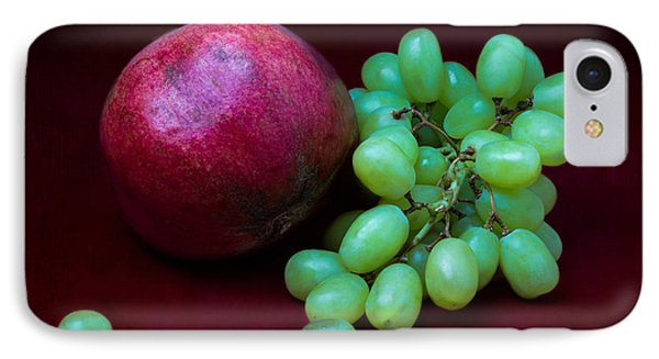 Red Pomegranate And Green Grapes IPhone Case